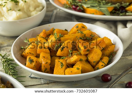 Organic Homemade Roasted Squash with Herbs and Butter #732601087