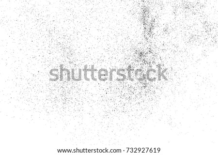 Black grainy texture isolated on white background. Distress overlay textured. Grunge design elements. Vector illustration,eps 10. #732927619