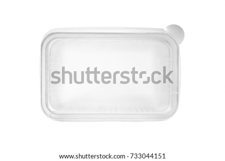 Plastic container on white background. #733044151