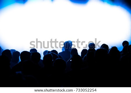 People at a concert #733052254