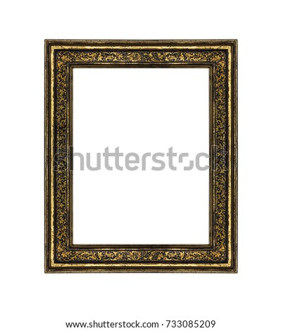 Very old picture frame isolated on white background. #733085209