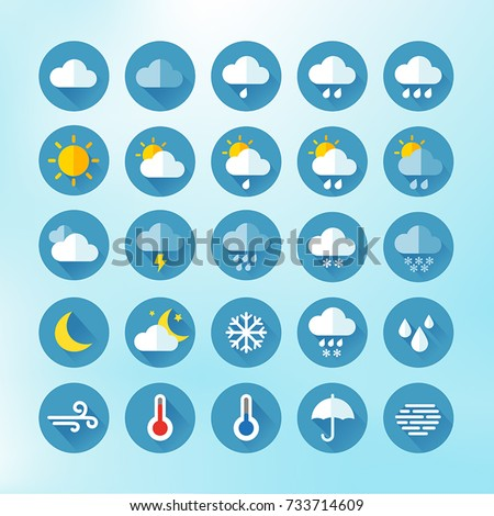 Weather Icons For Print, Web or Mobile App #733714609