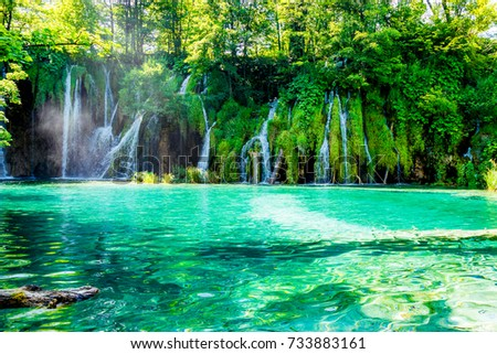 Idyllic place in the National Park in Croatia #733883161