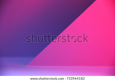 Photography of Pop Up paper craft for texture of background color magenta #733964182