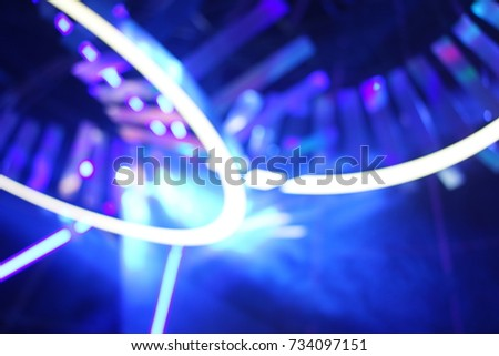 Defocused entertainment concert lighting on stage, blurred disco party and Concert Live. #734097151