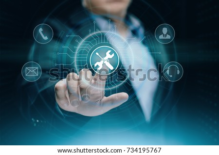 Technical Support Customer Service Business Technology Internet Concept. Royalty-Free Stock Photo #734195767