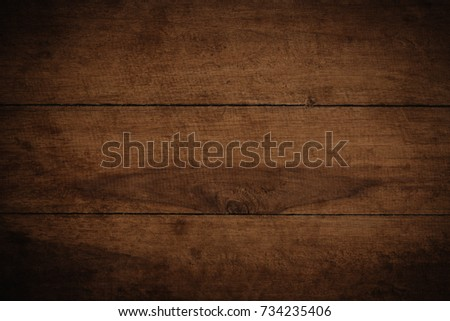 Old grunge dark textured wooden background,The surface of the old brown wood texture #734235406