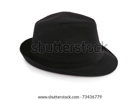 Black female hat isolated on white #73436779