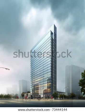 3d Business building #73444144