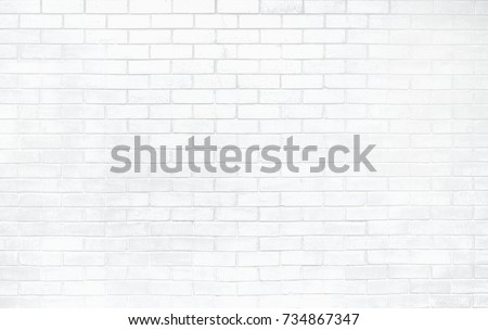 White brick wall texture. Elegant with high resolution of old white brick texture for background wallpaper and graphic web design  #734867347