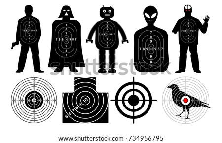 Targets for shooting, man, zombie, alien, robot