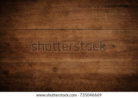 Old grunge dark textured wooden background,The surface of the old brown wood texture #735046669