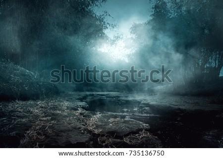 Creepy river Royalty-Free Stock Photo #735136750