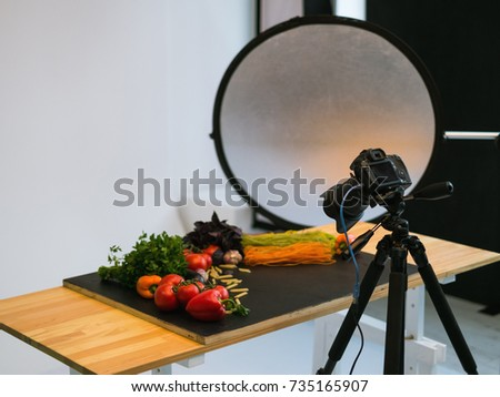 food photography photo studio art blog concept