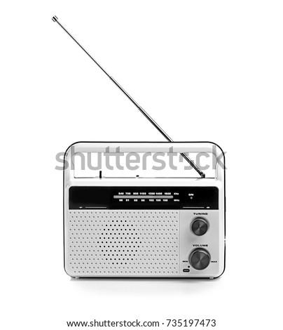 Radio receiver on white background #735197473