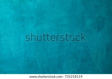turquoise cement or concrete wall texture and background seamless  Royalty-Free Stock Photo #735218119