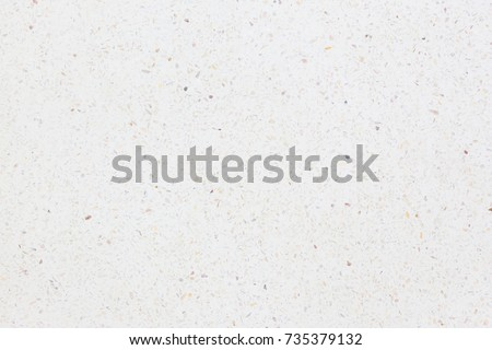 Terrazzo floor texture in top view new and clean condition for texture and background. Terrazzo flooring consists of chips of marble, glass and other material embedded in cement and then sanded smooth #735379132