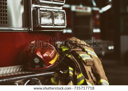 Firefighter truck and gear
