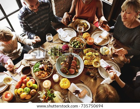 People are celebrating Thanksgiving day #735750694