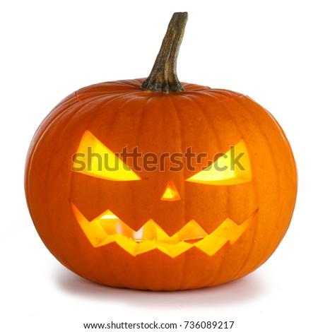 Halloween Pumpkin isolated on white background #736089217