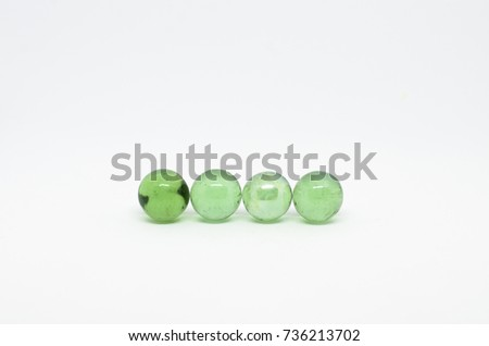 green marble on white background #736213702