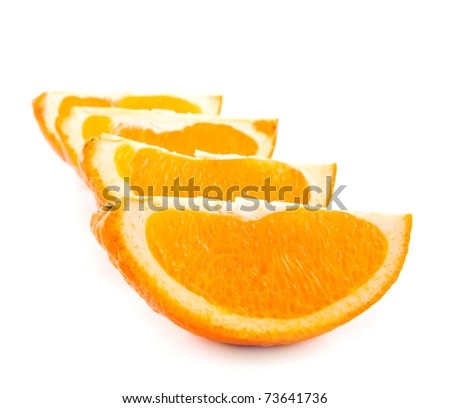juicy oranges on a white background #73641736