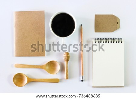 Flat lay photo of Business identity Mock Up set, Top View #736488685
