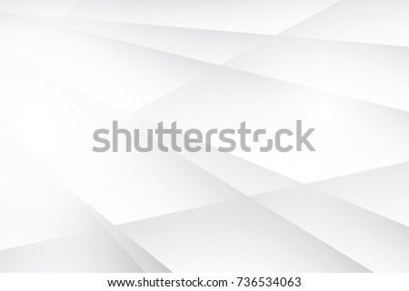 Abstract geometric white and gray color background, vector illustration. Royalty-Free Stock Photo #736534063