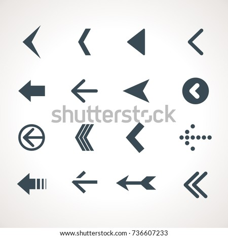 Vector Arrow Icon Set #736607233
