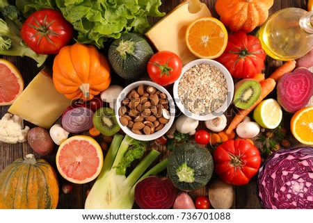 balanced diet food concept #736701088