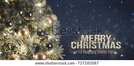 Holiday Background with Christmas tree #737185087