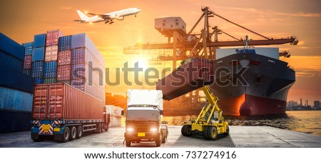 Industrial Container Cargo freight ship for Logistic Import Export concept #737274916