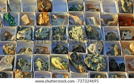 collection of minerals and rocks some very rare and precious #737324695