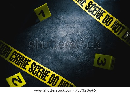 crime scene with dramatic lighting Royalty-Free Stock Photo #737328646