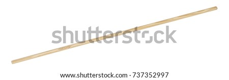 wooden handle isolated in white back Royalty-Free Stock Photo #737352997