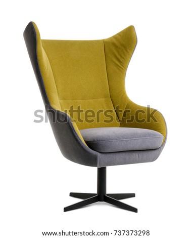 Modern armchair on white background #737373298