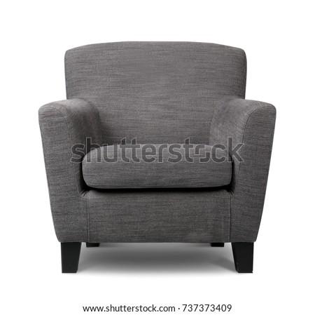 Modern armchair on white background #737373409