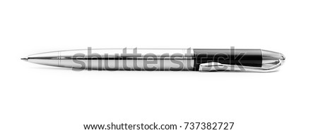 Ball pen isolated on white background #737382727