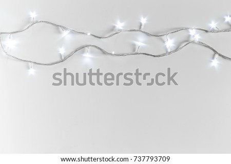 Christmas lights isolated on white background