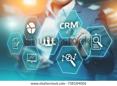 CRM Customer Relationship Management Business Internet Techology Concept. Royalty-Free Stock Photo #738184006