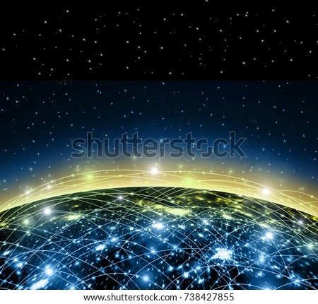 Earth from Space. Best Internet Concept of global business from concepts series. Elements of this image furnished by NASA. 3D illustration #738427855