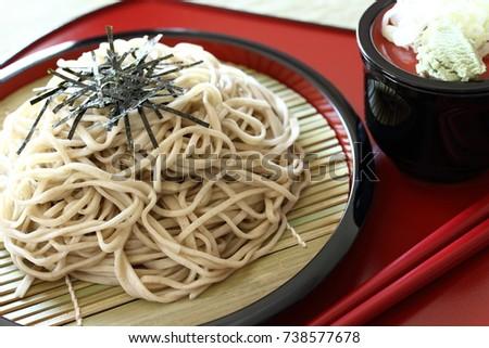 Japanese soba noodles,Zaru-soba #738577678