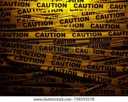 Caution tape. Royalty-Free Stock Photo #738593578