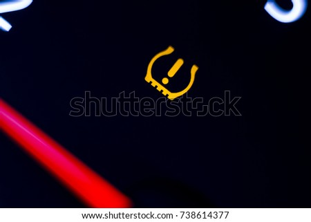 Tire pressure warning light illuminated.  #738614377