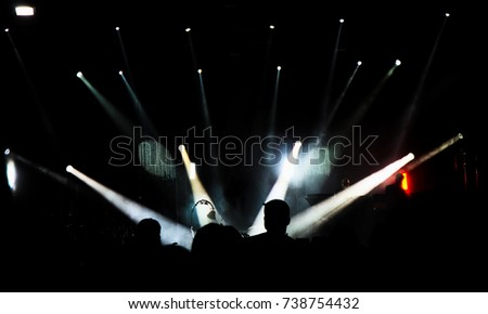 Concert in silhouettes #738754432