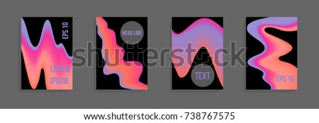 Minimum vector coverage. A set of modern abstract covers. Future futuristic template with abstract shapes for banner design, poster, notebook, book.Eps10. #738767575