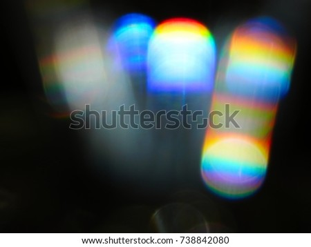 Rainbow light leak, abstract bakground Royalty-Free Stock Photo #738842080