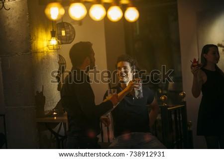 Friends having fun at a nightclub #738912931