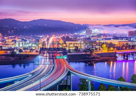 Charleston, West Virginia, USA skyline at dawn. #738975571