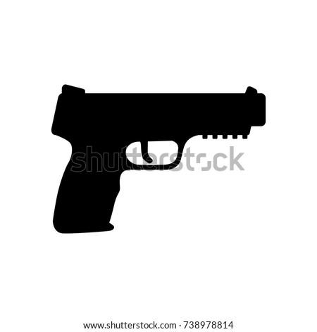 hand gun. military logo vector. isolated icon.